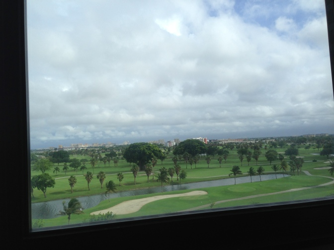 A room with a view at the Sheraton