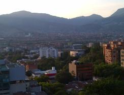 Medellin from above at sunset