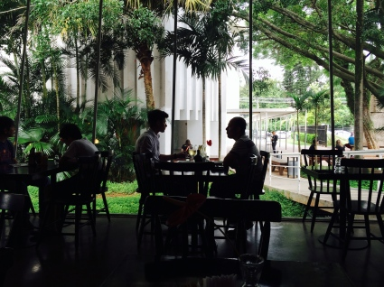 Behind the Museu da Imagem e do Som