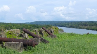 Spanish cannons rusting at San Lorenzo