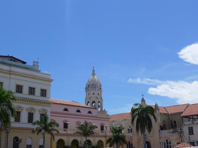 Lovingly preserved historical buildings ring Spanish plazas