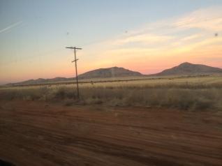 Heading off into the desert morning