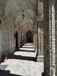 In the courtyard of the Compañía