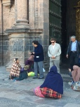 Outside the Cathedral, Sunday morning