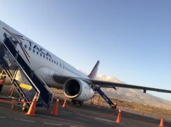 Landing at Arequipa airport