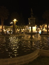 Playful fountains in the Plaza de Armas