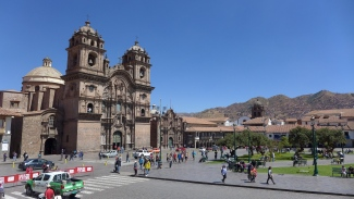 On the Plaza de Armas