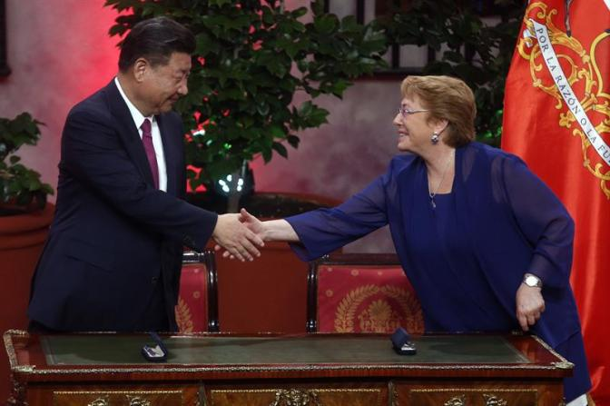 Bachelet and Xi